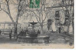 AGDE : Place De La Marine (1913). - Agde