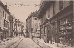 CPA 74. ANNECY. Rue Vaugelas. Magasins - Annecy