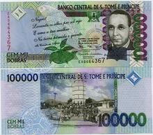 SAINT THOMAS & PRINCE       100,000 Dobras       P-69a       3.6.2005       UNC  [ 100000 ] - San Tomé E Principe
