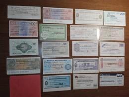 Italy Miniassegni / Emergency Check - Lot Of 19 Circulated Banknotes / Lotto 19 Miniassegni Circolati M4 - [10] Checks And Mini-checks