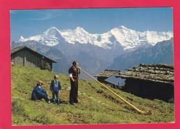 Modern Post Card Of Alphornblaser,Beatenberg, Berne, Switzerland,L50. - BE Berne