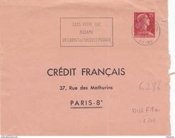 Muller 25f Rouge Enveloppe Credit Français Seine 1959 - Sobres Tipos Y TSC (antes De 1995)