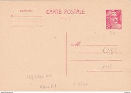 Gandon 18f Rouge Carte Postale Neuve 148*100 - Postal Stamped Stationery