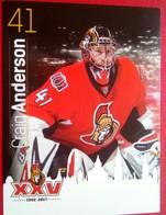 Ottawa Senators Craig Anderson - Singles