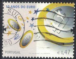Portugal 2009 Oblitéré Used 10 Ans De L'Euro SU - Oblitérés