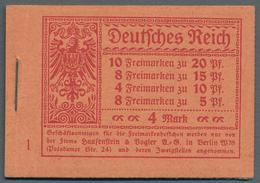 Deutsches Reich - Markenheftchen: 1920, 4 M. Germania Markenheftchen Mit ONr. 1 Und Durchgezähnten H - Deutschland