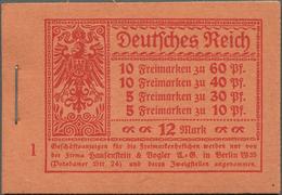 Deutsches Reich - Markenheftchen: 1921, Markenheft »Germania Und Ziffern«, Heftblattränder Links Dgz - Deutschland