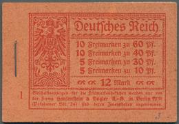 Deutsches Reich - Markenheftchen: 1921, Markenheftchen Germania/Ziffern Kpl. Gestempelt, Selten!. Ge - Deutschland