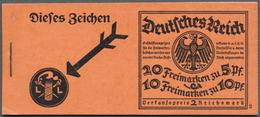 """Deutsches Reich - Markenheftchen: 1925, MH 2 RM """"Neuer Reichsadler"""", 1. Deckelseite Mit Bleistiftbes - Deutschland"""