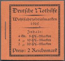 Deutsches Reich - Markenheftchen: 1925, Nothilfe, Postfrisches Markenheftchen, Kl. Deckelknick. Mi. - Deutschland