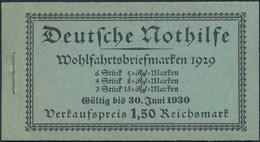 """Deutsches Reich - Markenheftchen: 1929, Markenheftchen NOTHILFE Mit Seltenen Gültigskeitdatum: """"Gült - Deutschland"""