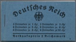Deutsches Reich - Markenheftchen: 1934, Hindenburg Heftchen Zu 2 Reichsmark Mit Ordnungsnummer 2, H- - Deutschland