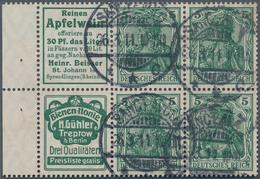 Deutsches Reich - Markenheftchenblätter: 1911, Reklame-Heftchenblatt 5 Pf Germania Mit Den Reklamen - Deutschland