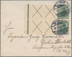 Deutsches Reich - Markenheftchenblätter: 1912/1913. Germania 5 Pf Mit Durchgezähntem Rand, Portorich - Deutschland