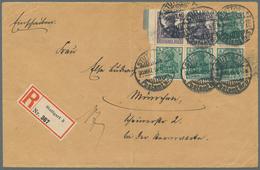 Deutsches Reich - Markenheftchenblätter: 1918, Germania-Heftchenblatt Mit 4 X 5 Und 2 X 15 Pf. Mit T - Deutschland