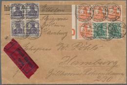 Deutsches Reich - Markenheftchenblätter: 1919, 2 X 5 Pf Opalgrün U. 4 X 7 1/2 Pf Rötlichorange Germa - Deutschland