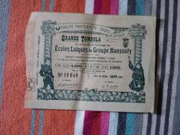 Grande Tombola Des Ecoles Laïques Du Groupe Nansouty 23 Juillet 1905 - Billets De Loterie
