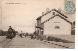 Landes : Montaut-Landes : La Gare - France