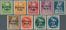 Deutsches Reich - Besonderheiten: PORTOFREIHEITSMARKEN Für Die Kriegsbeschädigten-Ausschüsse: 9 Wert - Duitsland