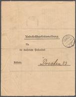Deutsches Reich - Besonderheiten: 1907, Unbestellbarkeitsmeldung Von Hohenbrück Nach Dresden, Dort F - Duitsland