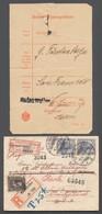"""Deutsches Reich - Besonderheiten: 1907, 20 Pfg Germania Im Paar Auf Einschreiben-Brief Aus """"BADENWEI - Duitsland"""