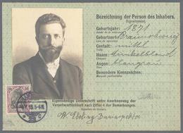 Deutsches Reich - Besonderheiten: 1913, Grüne Postausweiskarte Mit EF 50 Pf. Germania Friedensdruck - Duitsland