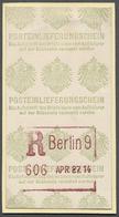 """Deutsches Reich - Besonderheiten: 1914, Automaten-Einschreibe-Stempel """"Berlin 9"""" Auf Automaten-Einli - Duitsland"""