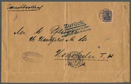 Deutsches Reich - Besonderheiten: 1917, 40 Pf. Germania Auf TAUCHBOOT-BRIEF (mittig Faltung) Der Dri - Duitsland