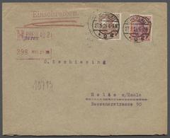 Deutsches Reich - Besonderheiten: 1921, R-Brief Von Breslau Nach Halle/Saale Mit 2 Germania-Ausgaben - Duitsland