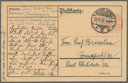 """Deutsches Reich - Besonderheiten: 1923, Postfreistempel """"100.000 (M.)"""" Ohne Aufgabestempel Auf Formb - Duitsland"""