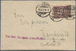 """Deutsches Reich - Besonderheiten: 1923, 2 Belege """"Aus Dem Straßenbahnbriefkasten"""". 1. Mit Nachporto - Duitsland"""
