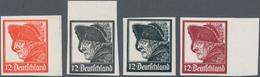 """Deutsches Reich - Besonderheiten: 1928 (ca) Dr. Eckerlin Probedrucke """"12 Pfg Deutschland"""" Mit Abbild - Duitsland"""