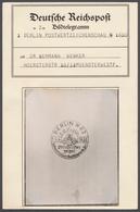 Deutsches Reich - Besonderheiten: 1938, BILD-TELEGRAMM Zur Postwertzeichen-Ausstellung Berlin-Zoo, G - Duitsland