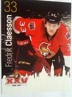 Ottawa Senators Fredrik Claesson - Singles