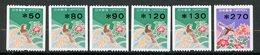 Japan, Yvert 2343/2347&2400, MNH - 1989-... Empereur Akihito (Ere Heisei)