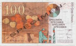 Publicité - Trac De 1997 - 2000 Sur Un Billet Spécimen De 100 € - Other
