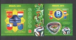 ST1083 2014 GUINE GUINEA-BISSAU SPORT FOOTBALL WORLD CUP BRAZIL GROUP B KB+BL MNH - 2014 – Brasile