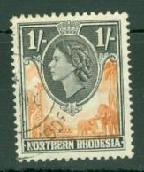 Northern Rhodesia: 1953   QE II     SG70    1/-     Used - Northern Rhodesia (...-1963)