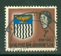 Northern Rhodesia: 1963   QE II - Arms    SG77    2d     Used - Rhodésie Du Nord (...-1963)