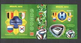 ST1084 2014 GUINE GUINEA-BISSAU SPORT FOOTBALL WORLD CUP BRAZIL GROUP H KB+BL MNH - 2014 – Brasile