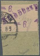 Deutsche Lokalausgaben Ab 1945: ALTDÖBERN, 1945: Gebührenzettel 6 Pf Violett Mit Großer Wertziffer, - Duitsland