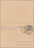 Deutsche Lokalausgaben Ab 1945: BAD SAAROW, 1945. Gebührenzettel 10 Pfg. 2 Stück Auf Blanco-Doppelpo - Duitsland