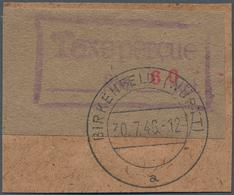 Deutsche Lokalausgaben Ab 1945: 1946. BIRKENFELD. Gebührenzettel 60 Pf In Seltener Type II Auf Brief - Duitsland