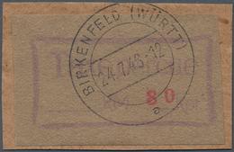 Deutsche Lokalausgaben Ab 1945: 1946. BIRKENFELD. Gebührenzettel 80 Pf In Seltener Type II Auf Brief - Duitsland