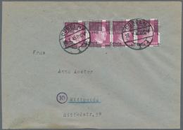 Deutsche Lokalausgaben Ab 1945: DÖBELN, 6 Pf Lebhaftviolett Mit Stark Verschobenem Aufdruck (Datum O - Duitsland