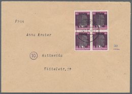 Deutsche Lokalausgaben Ab 1945: DÖBELN: 1945, 6 Pfg. Hitler Mit Deutlichem Doppelten Punktquadrat-Au - Duitsland