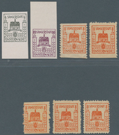 Deutsche Lokalausgaben Ab 1945: FINSTERWALDE: 1945, 7 Verschiedene Werte, Dabei Nr. 2Z U. 12Z Ungebr - Duitsland