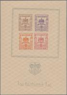 Deutsche Lokalausgaben Ab 1945: FINSTERWALDE: 1946, Blockausgabe Wiederaufbau Mit Großem Stadtwappen - Duitsland