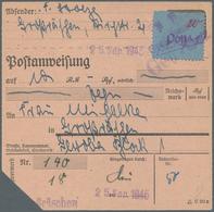 Deutsche Lokalausgaben Ab 1945: 1945, GROSSRÄSCHEN, 20 Pfg. Freimarke September 1945 Als EF Auf Port - Duitsland