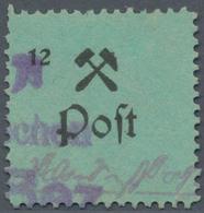 Deutsche Lokalausgaben Ab 1945: GROßRÄSCHEN: 12 (Pf) Probedruck Ohne Währungsangabe, Entwertet Mit T - Duitsland